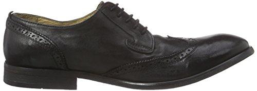 Hudson Rowe, Chaussures Lacées Homme Noir (Canvas Black)