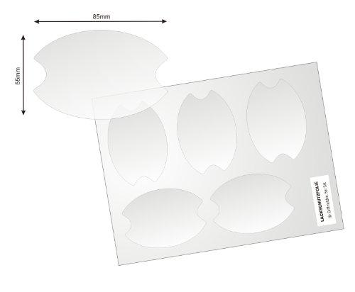 Universelle Lackschutzfolie für Griffschalen / Griffmulden - 5er Set mit fünf Schutzfolien , 150µm transparenter, selbtklebender Lackschutz