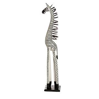 50cm Holz Zebra Holzzebra Schwarz Weiß Afrika Style Handarbeit Fair Trade