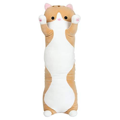 Katzenspielzeug Kissen Nickerchen Streifen Kissen Bett Plüsch Puppe Spielzeug Puppe Dekoration Geschenk (Color : Brown, Size : 70cm) - Streifen-bett, Kissen