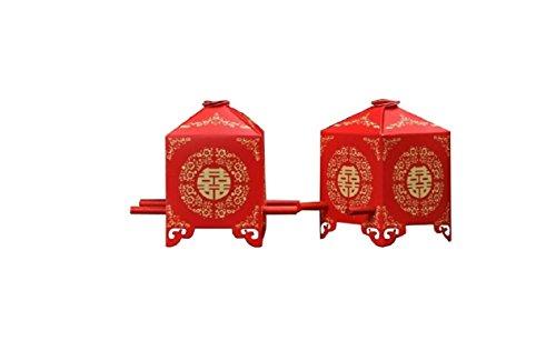 Stofirst 100 Pezzi Professionale Creativo Cinese Tradizionale Rosso Sposa Portantina Bomboniere Caramella Regali Scatole per Matrimonio Sposa Doccia Cerimonia di Fidanzamento