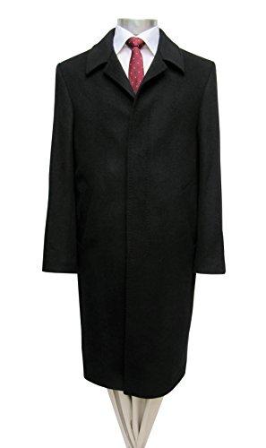 Herren Mantel lang Schwarz Muga Schwarz