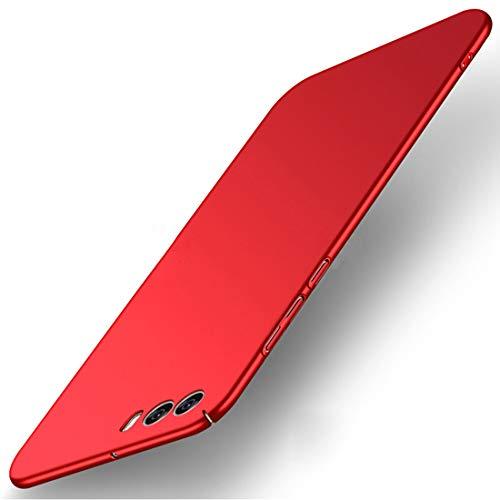 Tianqin ZTE Nubia Z17 Mini S Hülle, Ultra Leichte Schutzhülle Ultra dünnes PC Cover Harte Schale Anti-Scratch Stoßstange Einfache Stilvolle Abdeckung für ZTE Nubia Z17 Mini S - Rot