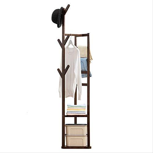 Saddpa stand appendiabiti da terra, scaffale attaccapanni in legno carrello guardaroba cabina armadio casa camera da letto
