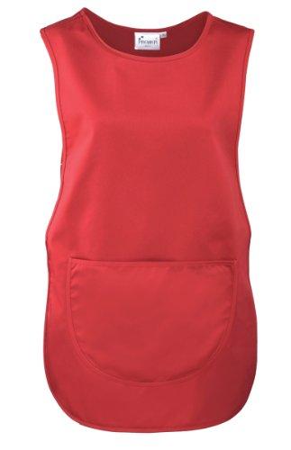 Premier Überwurfschürze/Kasack/Tabart mit Tasche (S, Rot)