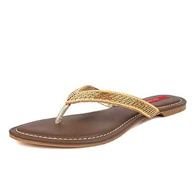 SOLES Women Espadrille Rose Gold Party Thong Slip-On Flats Size 3 UK/India (36 EU)