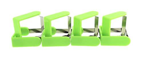MC Trend 8er und 16er Set Tischtuchklammern Tisch Clips Klammer Tischdeckenhalter Garten Balkon Party Feier Picknick (16 Stück Grün)