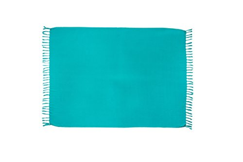 MANUMAR pareo mare donna opaco, telo mare sarong verde chiaro, XXL grande formato 225 x...