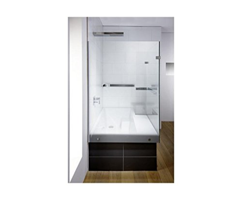 Repabad Stairway Dusch Badewanne 170 Ecke mit Glaswand Wannenträger Kombiwanne mit Rotaplex Ab.- und Überlauf chrom rechts ohne RepaGrip ohne Stufe ohne Wandgriff