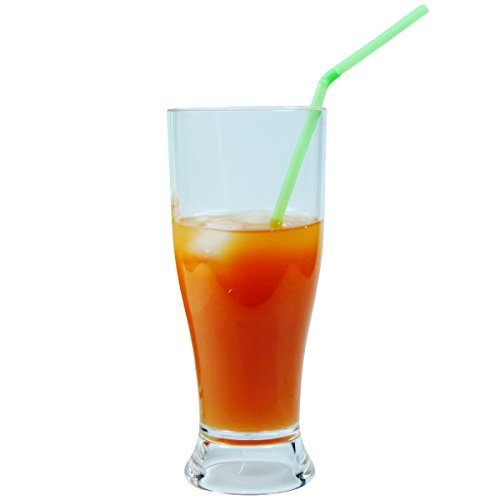 Viva Haushaltswaren – 2 x bruchfestes Bierglas ca. 350 ml, Longdrinkglas, Cocktailglas, Gläser Set aus hochwertigem Kunststoff (Polycarbonat), edle Gläser für Camping, Partys (wie echtes Glas) - 6