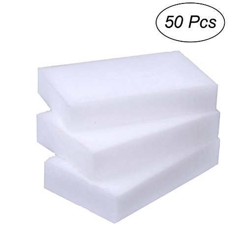 BESTOMZ Esponja de limpieza mágica 50pcs Nano, cepillo de lavado fuerte del borrador, el mejor artículo de alta densidad adicional para la cocina (blanco)