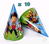 #4: Partysanthe Paw Patrol Hat/Party Cap For Kids Paw Patrol Hat Design 10 Pcs/Birthday Theme/Party Theme
