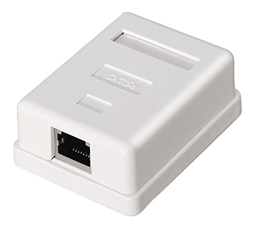 NanoCable 10.21.1601 - Roseta de superficie RJ45 con 1 toma de conexión Cat.6 FTP, blanco