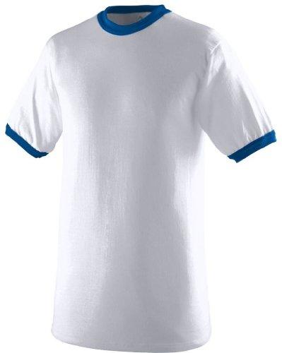 Augusta Herren T-Shirt Weiß / Königsblau