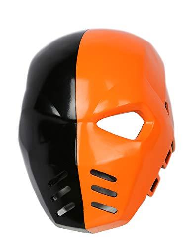 Cosplay Kostüm Deathstroke - Xcoser Halloween Maske Herren Cosplay Kostüm Harz Helm TV Verrücktes Kleid Kleidung Zubehör