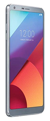 LG G6 Smartphone, QHD Pantalla FullVision 5.7 en pulgadas Formato 18: 9, 13 MP Cámara gran angular doble, 4 GB RAM, 32 GB Memoria interna ampliable a 2 TB, resistente al agua, plata [Italia]