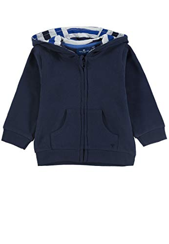 TOM TAILOR Kids Baby-Jungen Sweatjacket Placed Print Sweatjacke, Blau (Navy Blazer|Blue 3105), (Herstellergröße: 86)