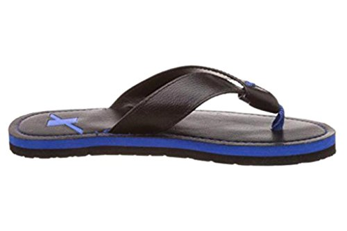 Sparx Men's SFG527 Series Black Blue Synthetic Running Slippers 7UK  available at amazon for Rs.441