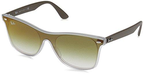 Ray-Ban Unisex-Erwachsene 0RB4440N 6358W0 41 Sonnenbrille, Matte Transparent/Cleargradientgreenmirrorre