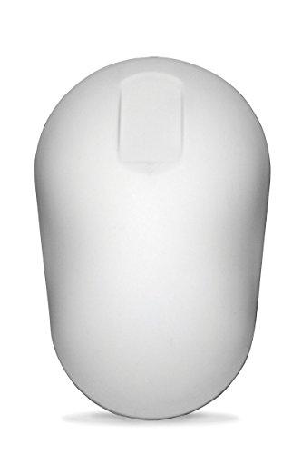 PUREKEYS Hygiene Maus - kabellos - leicht desinfizierbar & abwaschbar, Schutzgrad IP 66 - Silikonummantelte Computermaus mit 2 Knöpfen und Touchscroll Funktion