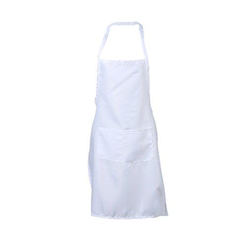 LissomPlume Schürze latzschürze kochschürze Grillschürze Bistroschürze küchenschürze Malschürze - weiß