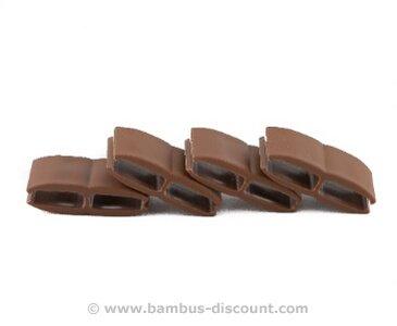 Nahtlose Verbindung für Kunststoffmatten von Videx, nussbaum, mit 4 Stück pro Beutel von bambus-discount.com auf Du und dein Garten