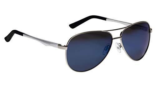 ALPINA Erwachsene A 107 P Sonnenbrille, Silver matt, One Size