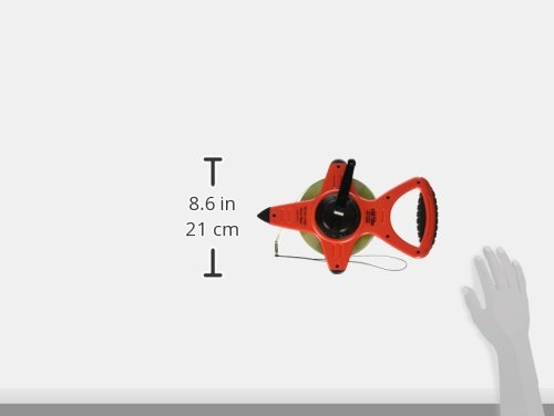 CST/Berger 82-1001MA nylon-clad Stahl Tape, 100'/30m, beidseitigen, metrisches/10tel,' A 'Ende