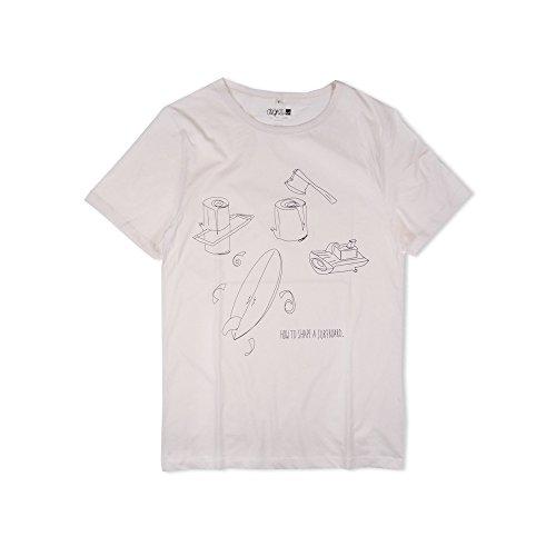 Degree Clothing Herren T-Shirt - How to shape a surfboard - ecru aus Bio Baumwolle Fair S (Shirt S/s Surfboard)