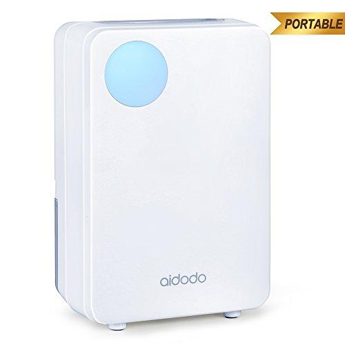 Aidodo deumidificatore portatile mini compatto con serbatoio da 800ml silenzioso basso consumo elettrico deumificatori casa per armadio stanze cantina ufficio camera da letto