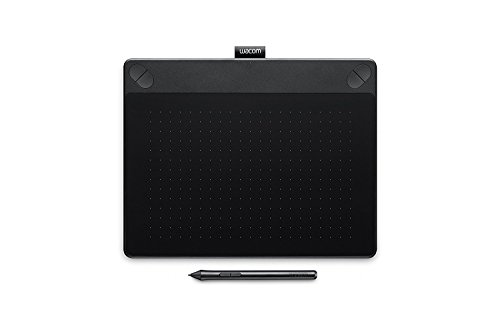 Wacom Intuos Art Medium Black Grafik-Tablett für digitales Malen – Stift-Tablett mit druckempfindlichem Stift und Multitouch-Oberfläche für natürliches Schreibgefühl – Kompatibel mit Mac & Windows