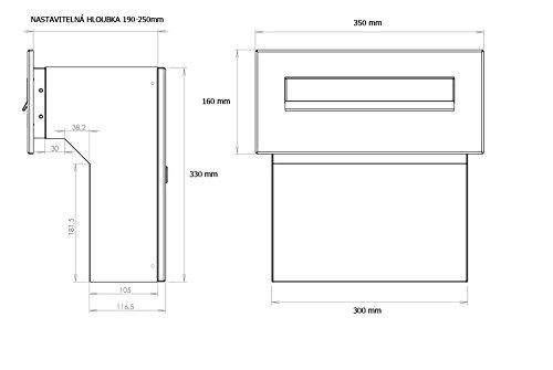 F-04 Edelstahl Mauerdurchwurf Briefkastenanlagemit zwei Klingeln und 2 Namensschildern (variable Tiefe) – LETTERBOX24.de - 6