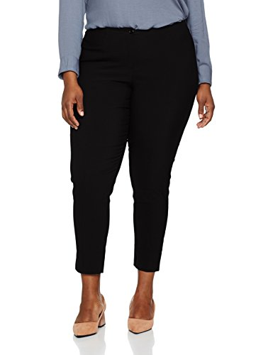 GINA LAURA Große Größen Damen bis Größe 48 Basic Hose Bengalin elastische Businesshose elegant