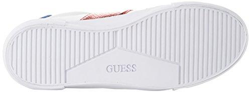 Guess Damen Footwear Active Lady Sneaker, White/Red/Blue Bianco