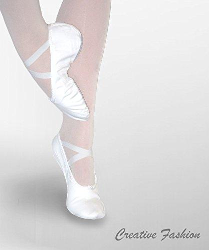 Ballettschläppchen aus Leinen mit geteilter Sohle Classica von Kostov Sportswear Rosa