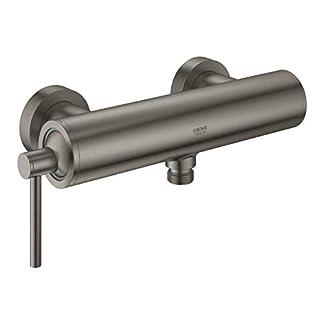 GROHE Atrio Ducha Grafito – Grifos de baño (Ducha, Grafito, Metal, Grifos de palanca, Solo, 1/2″)