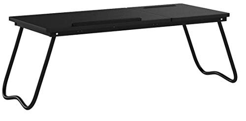 DlandHome Table de Lit/Canapé Foldable & Ajustable, Support Ordinateur Portable, Stand Bureau...