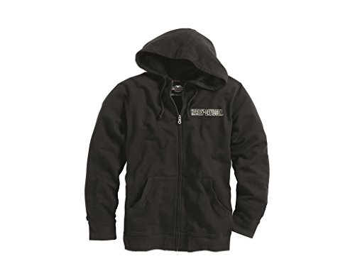 Hoodie Harley (Harley-Davidson Sweatjacke Bar & Shield Logo, schwarz,)