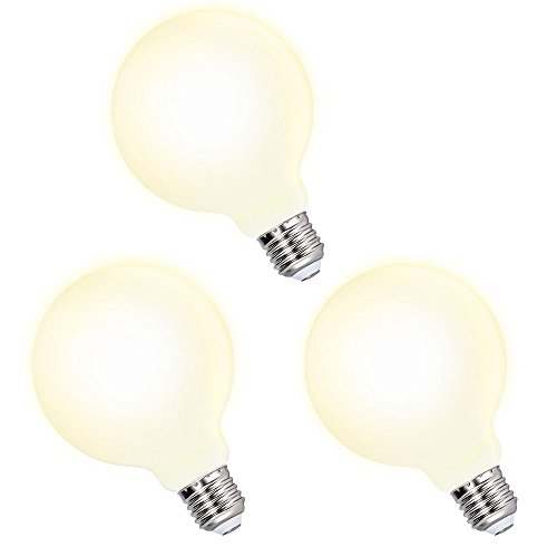 Lamparas Bombillas Globos Grande de LED de Edison E27 G95 6W Luz Calida 3000K Iluminación Omnidireccional para Lampara Colgante de Techo, Lot de 3 de Enuotek