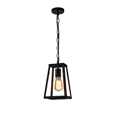 SLYT Colgante ligero comedor vintage negro Cafe dormitorio lámpara colgante sala de estar de metal luz de techo niños habitación araña Simple