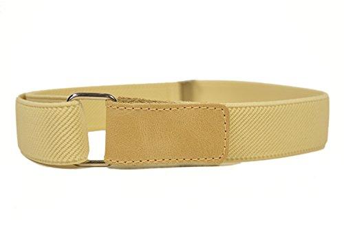 Olata cintura elasticizzata per bambini 1-6 anni con apertura hook & loop - crema chiaro
