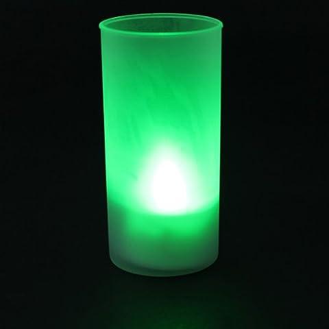 [Livraison Gratuite 7-12 jours] Coup de flamme romantique capteur de son scintillement LED thé bougie noël lum BML® // Romantic Flameless Blow Sound Sensor LED Candle Tea light