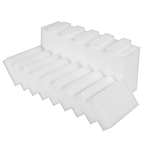 100 Stück Reinigungsschwamm Wiederverwendbare Wunder Schmutzradierer Radiergummi Magic Reinigungsschwamm Umweltfreundlich und ungiftig Wunder Reinigungsschwamm Weiß 10x6x2cm (weiß)