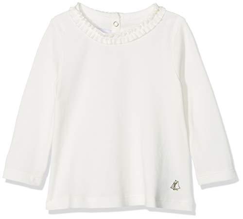 Petit Bateau Petit Bateau Baby-Mädchen Langärmeliges Oberteil SF Blouses ML Blanc (Marshmallow 01) 3-6 Monate