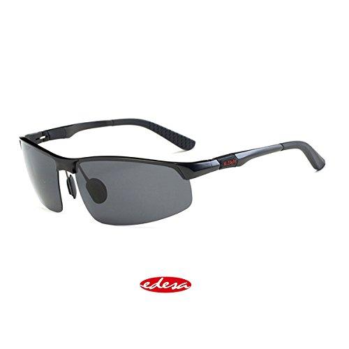 Sport Sonnenbrille Herren, Sportbrille Polarisierte Fahrerbrille Fashion Cool Metal-Frame Brille