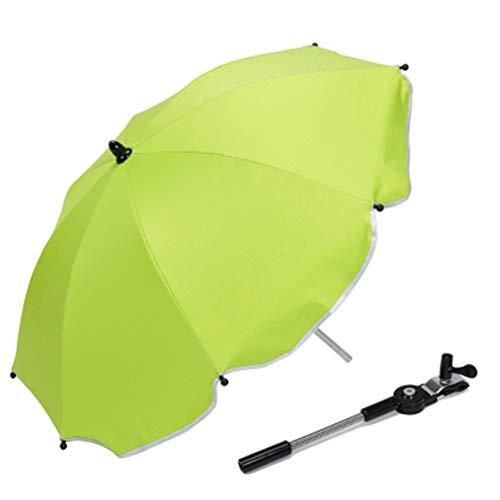 GFYWZ Kinderwagen Stuhl Sonnenschirm Markise Anti-Uv Regenschirm Baldachin Universal Fit Für Kinderwagen Wagen Sitz,Green (Baldachin Wagen)