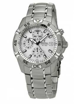 festina f16169 Festina Herren Chronograph Quarz Uhr mit Edelstahl Armband F16169-1