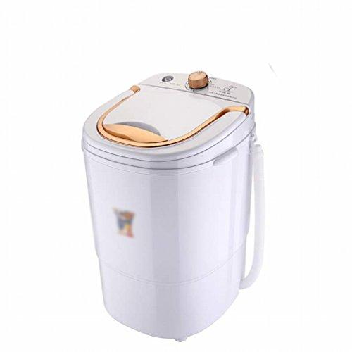 GCCI Mini Kleine Einzelrohr Haushalt Dehydrierung Kinder Baby Baby Waschmaschine,Weiß