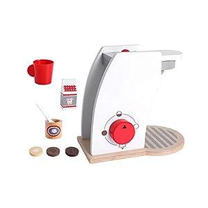 TrifyCore Holz Kaffeemaschine Set Play-Küchenzubehör für Kleinkinder Kostüm Rollenspiele Schule Klassenzimmer pädagogisches Spielzeug 1Set