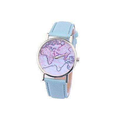 Fenkoo unisex Weltkarte style watch / Jahrgang Weltkarte / Antiken-Weltkarte / Damenuhr / women...